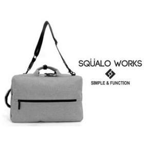 SQUALO WORKS/スクアーロ ワークス  3WAYバッグ  【グレー】 SW-MD01-007