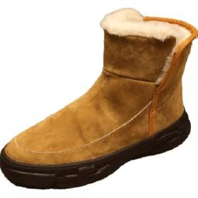 [エージョン] スノーブーツ メンズ ブーツ 裏起毛 防水 防寒 防滑 ショートブーツ スノーシューズ 雪靴 保暖 裏ボア スニーカー 雪用ブーツ ハイカット ウィンターブーツ (カーキ,44cm)