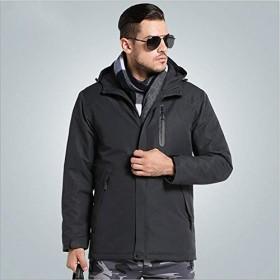 USBヒーターハンティング加熱ジャケット暖房冬服女性男性サーマル屋外長袖コートハイキング登山-グレー