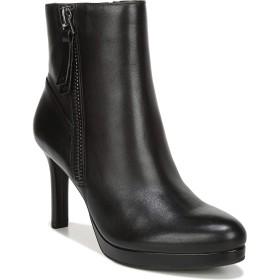 ナチュライザー Naturalizer シューズ ブーツ・レインブーツ Naturalizer Tiana Platform Boot (Women) Black Leat レディース [並行輸入品]