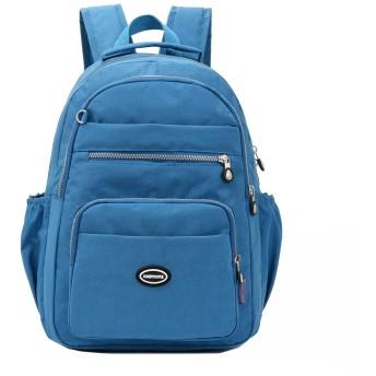 軽量ナイロンバックパック防水ラップトップバッグマルチレイヤショルダーバッグスクールバッグ (Color : Sea blue, Size : 311742cm)