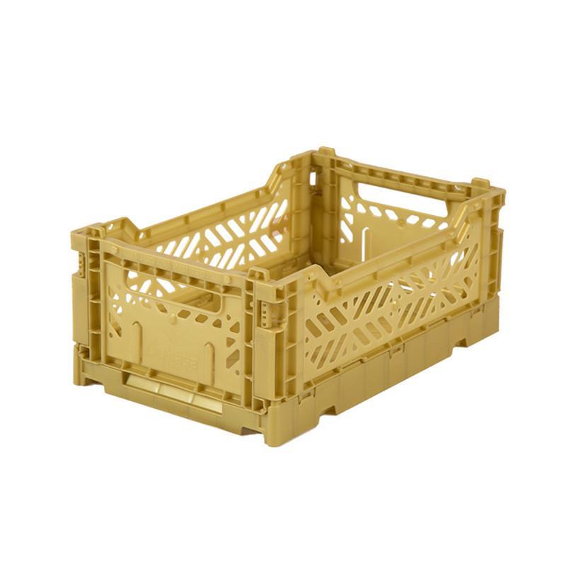 折疊收納箱 S (2入) - 礦石金