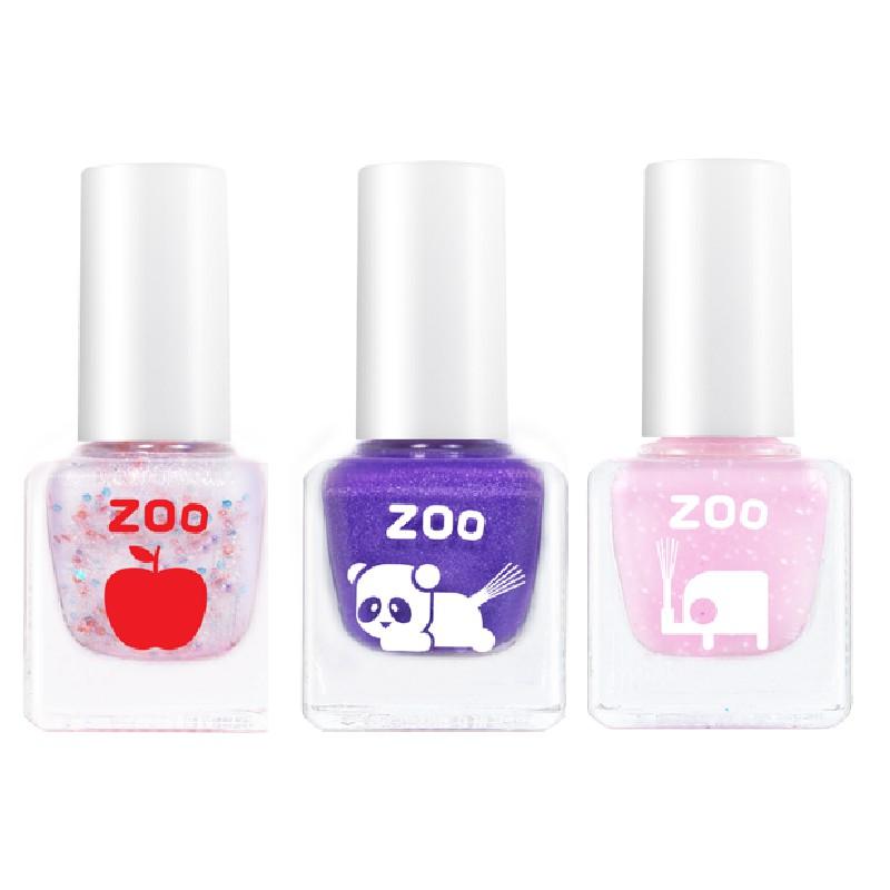 / 為兒童設計的 ZOO 指甲油 / 5種貼心設計!✔️ 自然親膚。香香的 ZOO 指甲油,不含化學物質,以純水為基底,加上樹脂、天然礦物質色漿,安心享受親子時光!✔️ 輕鬆撕除。不用去光水!指甲油乾