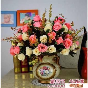 【5束花瓶】花客廳絹花飾品擺件餐桌茶幾花假花