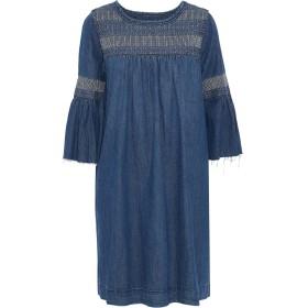 《セール開催中》CURRENT/ELLIOTT レディース ミニワンピース&ドレス ブルー 0 コットン 100%