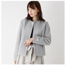 【インデックス/index】 【her style.掲載】【42(LL)WEB限定サイズ】シャギービジュー2WAYショートコート