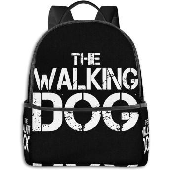 バックパック リュック ハイキングデイパック Walking Dog PCバッグ タウン 大容量 登山 ラップトップ ビジネス スクール 通学 大人の通勤 旅行 軽量 折りたたみ式 盗難防止 かぶせ型