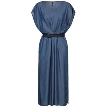 《セール開催中》MARIELLA ROSATI レディース 7分丈ワンピース・ドレス ブルー 42 テンセル 100%