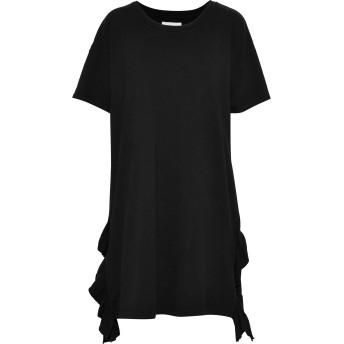 《セール開催中》CURRENT/ELLIOTT レディース ミニワンピース&ドレス ブラック 0 コットン 100%