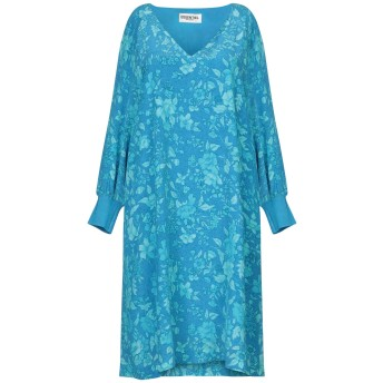 《セール開催中》ESSENTIEL ANTWERP レディース ミニワンピース&ドレス ターコイズブルー 34 シルク 100% / レーヨン / ポリエステル