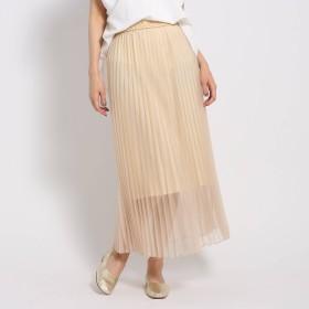 JET NEWYORK(ジェット)/【洗える】ウエストゴム オーガンジープリーツスカート