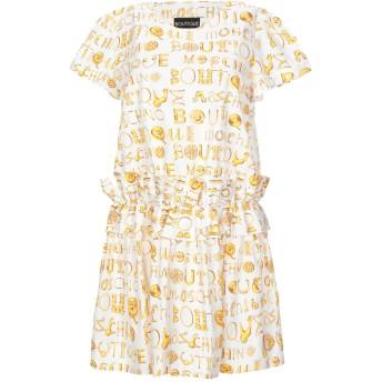 《セール開催中》BOUTIQUE MOSCHINO レディース ミニワンピース&ドレス ホワイト 38 コットン 100%