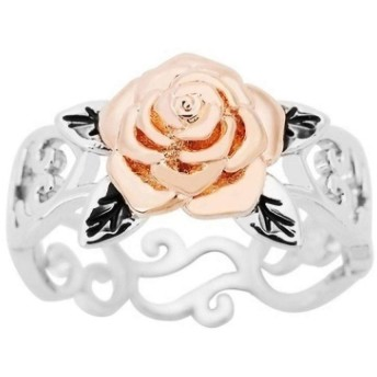 Potctron(ポクトロン) おしゃれ バレンタインデー プレゼント ローズ ゴールド 結婚式 ジュエリー ロマンチック レディースリング 永遠に枯れない花 天然カラー