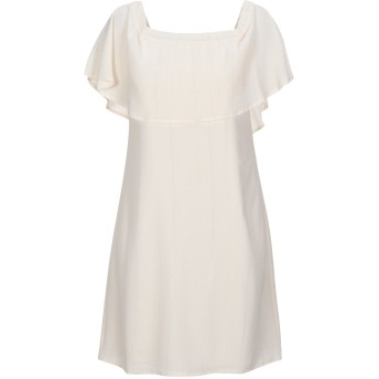 《セール開催中》RUE8ISQUIT レディース ミニワンピース&ドレス ベージュ 38 ポリエステル 100%