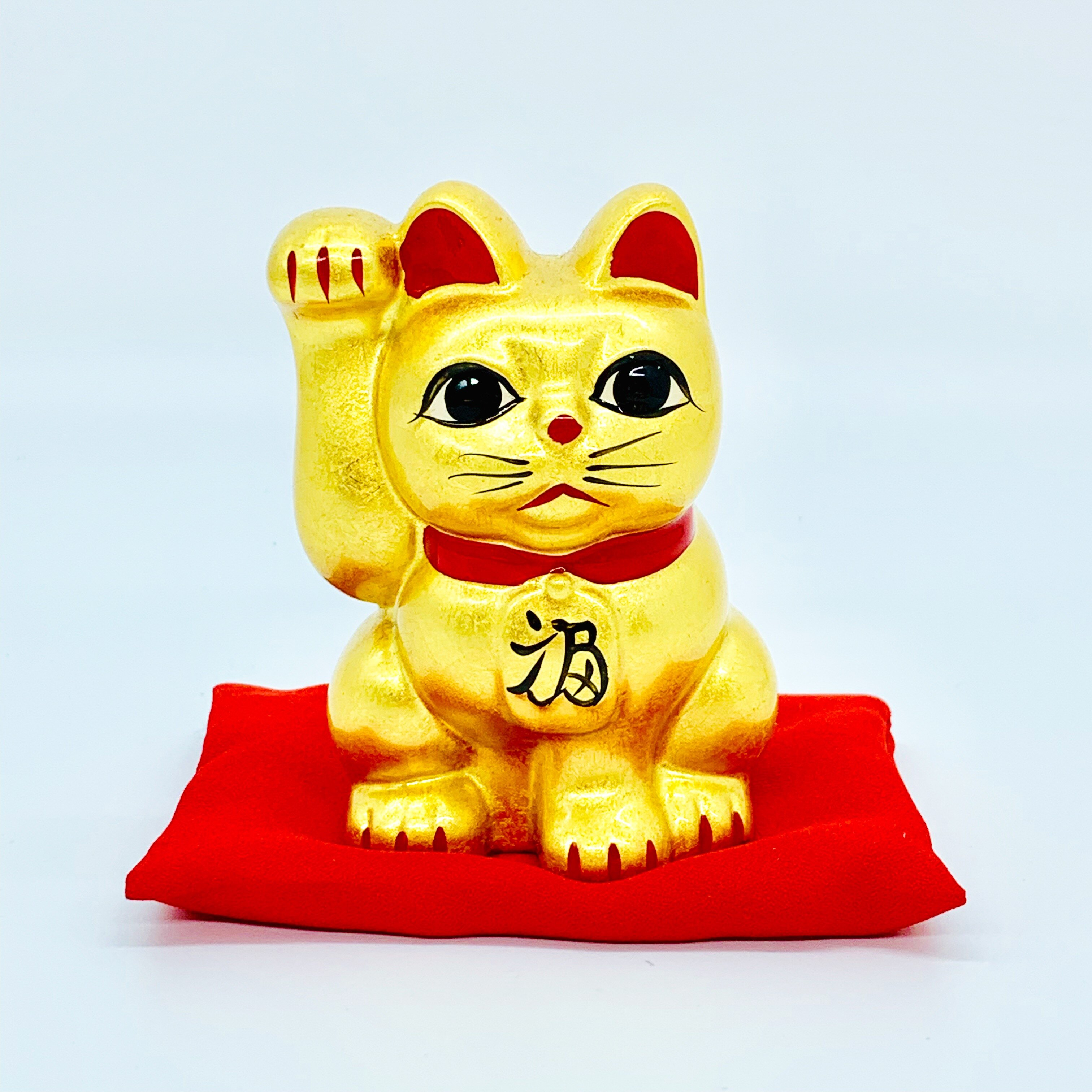 日本 金澤 金箔招財貓  3 號 日本百年老店直送 職人手作貼製