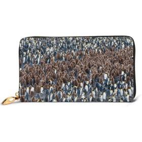 財布 長財布 多く ペンギン レディース 本革製 小銭入れ 大容量 スマホ入れ可 12カード入れ 高級感あり 手触り良い 薄型 おしゃれ かわいい クリスマスプレゼント
