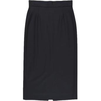 《セール開催中》ALESSANDRO DELL'ACQUA レディース 7分丈スカート ブラック 38 ポリエステル 53% / バージンウール 43% / ポリウレタン 4%