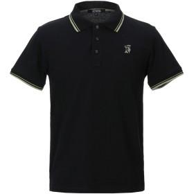 《セール開催中》TRUSSARDI ACTION メンズ ポロシャツ ブラック L コットン 100%