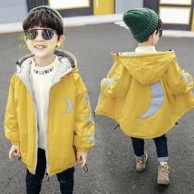 子供服 冬着 ロング ジャケット 女の子男の子 キッズ服 フード付き キッズコート 子供コート ダウンコート アウター100 中綿コート