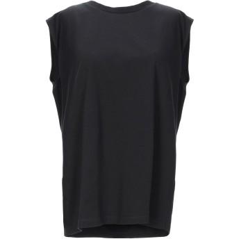 《セール開催中》MM6 MAISON MARGIELA レディース スウェットシャツ ブラック S コットン 100% / ポリウレタン / レーヨン