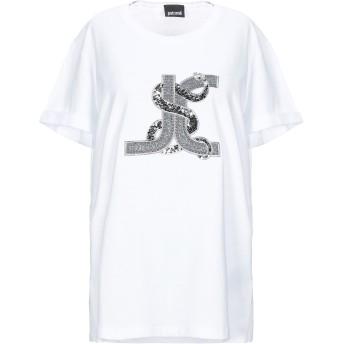 《セール開催中》JUST CAVALLI レディース T シャツ ホワイト XXS コットン 100% / ポリエステル