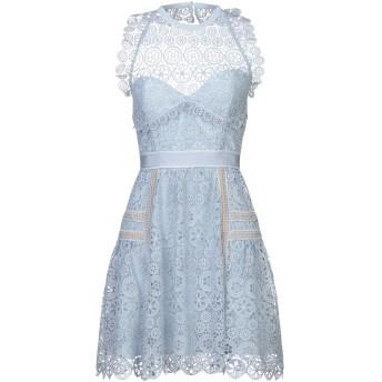 《セール開催中》SELF-PORTRAIT レディース ミニワンピース&ドレス スカイブルー 10 ポリエステル 100%