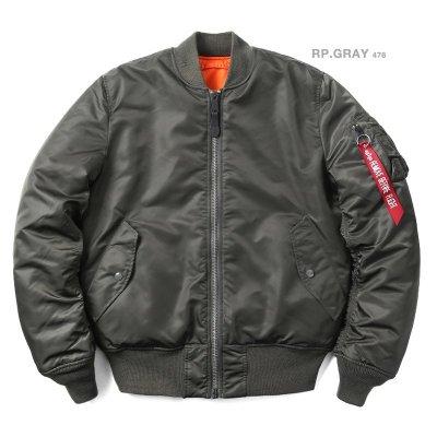 【Brand T】日版 ALPHA INDUSTRIES MA-1 TIGHT版*灰綠色*合身窄版*飛行外套*MA1