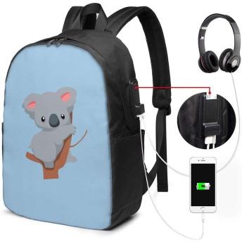 ビジネスリュック,コアラ PC バックパック リュック USB充電ポ ビジネスリュック レジャーバックパック 旅行リュック多機能 大容量 通勤