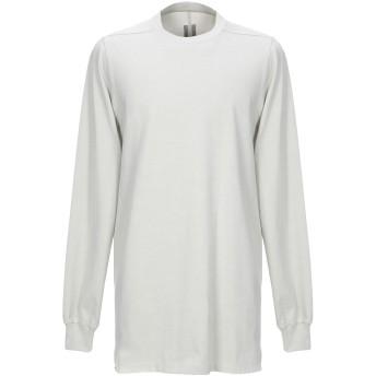 《セール開催中》RICK OWENS メンズ T シャツ ライトグレー S コットン 100%