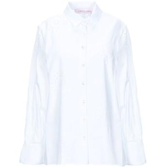 《セール開催中》CAROLINA HERRERA レディース シャツ ホワイト 2 コットン 100%