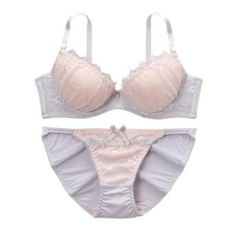 ケミカルレースブラジャー。ショーツセット ワイヤー入りブラジャー&ショーツセット, Bras & Panties, 胸罩&内, 胸罩&