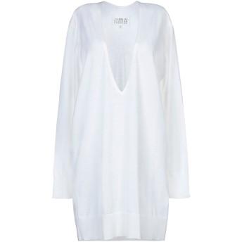 《セール開催中》MAISON MARGIELA レディース ミニワンピース&ドレス ホワイト S ウール 100%