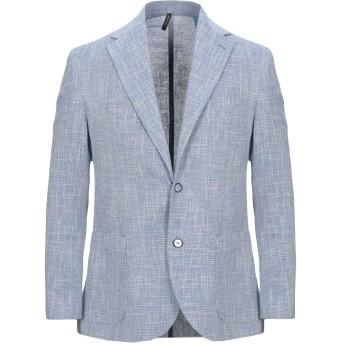 《セール開催中》VINCENT TRADE メンズ テーラードジャケット スカイブルー 54 コットン 85% / ポリエーテル 10% / 指定外繊維 5%