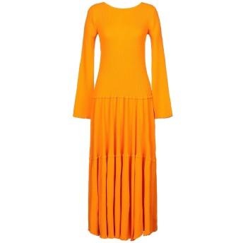 《セール開催中》CAROLINA HERRERA レディース ロングワンピース&ドレス オレンジ XS レーヨン 81% / ポリエステル 19%