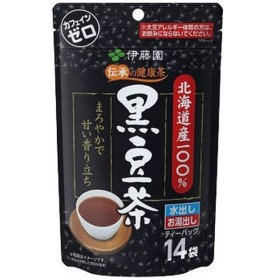 伝承の健康茶 北海道産100% 黒豆茶ティーバッグ 7.5g×14袋【ティーバッグ】