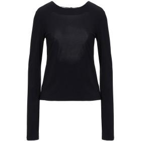 《セール開催中》MAISON MARGIELA レディース T シャツ ブラック 38 アセテート 75% / ナイロン 20% / ポリウレタン 5%
