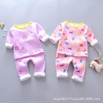 自分の服の秋冬の新型の子供を越えて底のズボンの乳幼児を打って厚くなりません