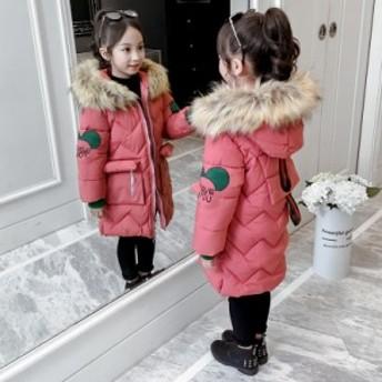 子供の綿服の女の子の綿の服は厚いオーバーの2019新型の冬服の中で長い款の綿の上着の韓国版の洋風の冬の潮流をプラスします