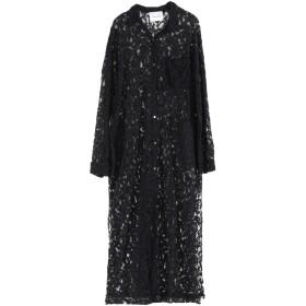 《セール開催中》BRAND UNIQUE レディース ロングワンピース&ドレス ブラック 1 コットン 50% / レーヨン 35% / ポリアクリル 15%