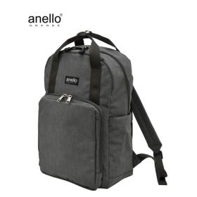 anelloGRANDE(アネログランデ)杢調10ポケットスクエアリュック(A4対応) リュック・バックパック・ナップサック, Bags, 鞄