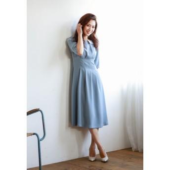 LE JOUR 【DIRECTED BY MISAKI YAMASHITA】ディタッチャブルカラーワンピース その他 ワンピース,ブルー系