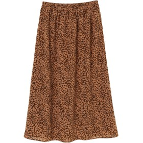 【6,000円(税込)以上のお買物で全国送料無料。】レオパードプリントマキシスカート
