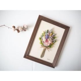 ︎再販開始! ︎小さなお花畑のBouquet frame#13 ︎洋書ペーパー1枚おまけ付き ︎