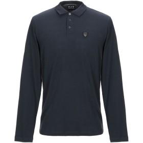 《セール開催中》EA7 メンズ ポロシャツ ダークブルー M コットン 95% / ポリウレタン 5%