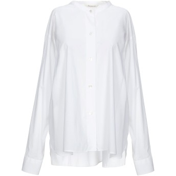 《セール開催中》GUGLIELMINOTTI レディース シャツ ホワイト 44 コットン 100%