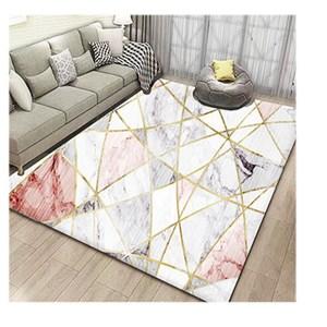 【三房兩廳】北歐簡約時尚水晶絨地毯140x200cm (立體晶粉)