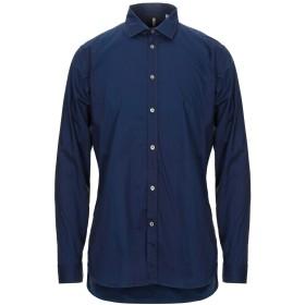 《セール開催中》MICHAEL COAL メンズ シャツ ダークブルー 42 コットン 100%