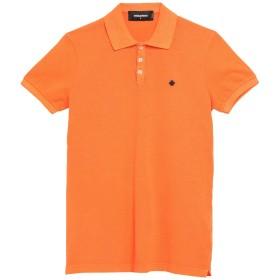 《セール開催中》DSQUARED2 メンズ ポロシャツ オレンジ S コットン 100%
