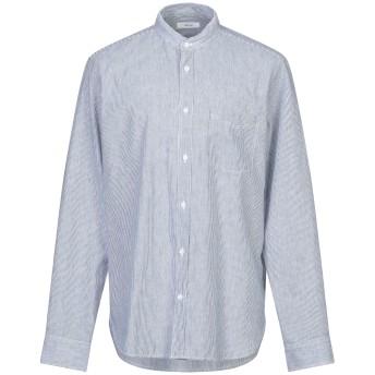 《セール開催中》MAURO GRIFONI メンズ シャツ ダークブルー 38 麻 55% / コットン 45%