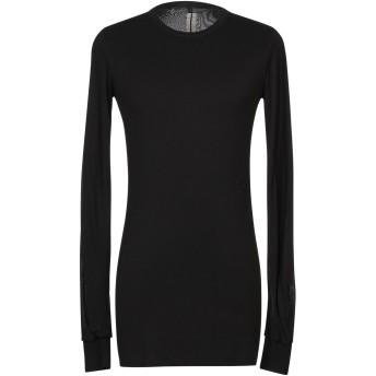 《セール開催中》RICK OWENS メンズ T シャツ ブラック M レーヨン 88% / シルク 12%